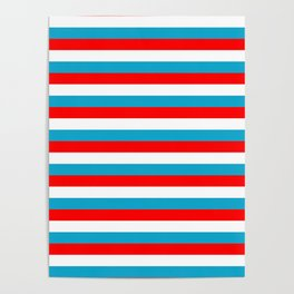 luxembourg flag stripes Poster