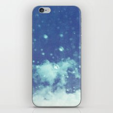Blue and purple bubble clouds II iPhone & iPod Skin