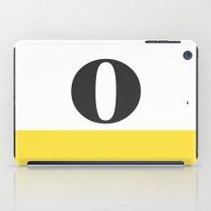 Monogram Letter O-Pantone-Buttercup iPad Case