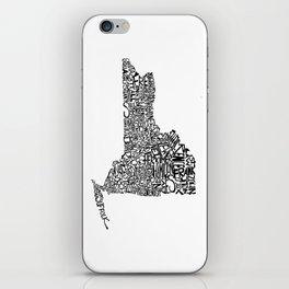 Typographic New York iPhone Skin