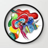 medusa Wall Clocks featuring Medusa by Gosia&Helena