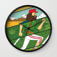 run Wall Clocks featuring Run by Derek Eads