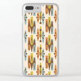 Mid Century Modern Atomic Triangles 334 Clear iPhone Case