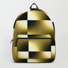 Gold Checkered Pattern Backpack