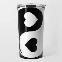 Yin Yang Black & White Travel Mug