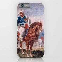Three Arab Horsemen At An Encampment - Digital Remastered Edition iPhone Case