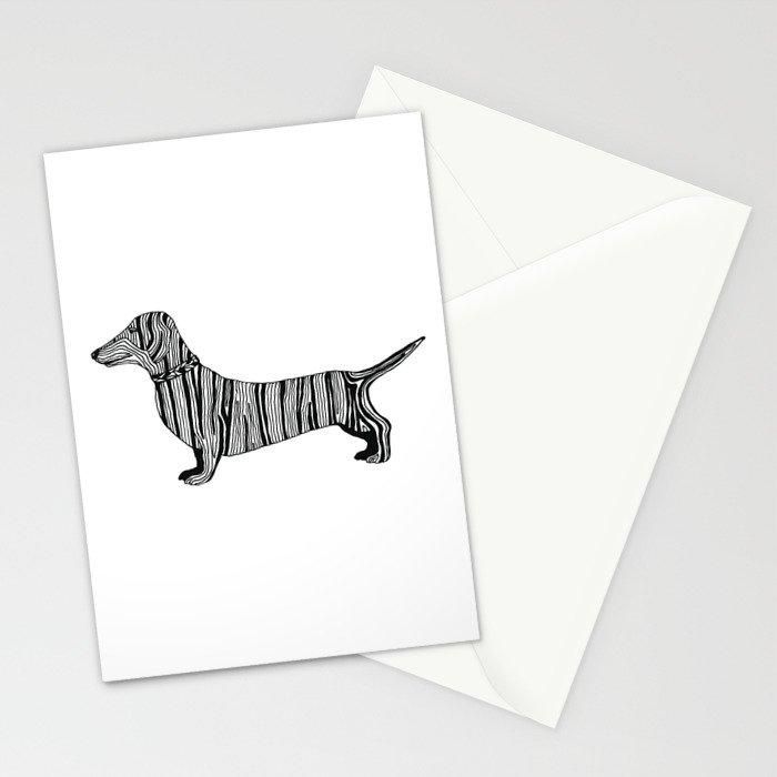 Dachshund Sausage Dog Stationery Cards