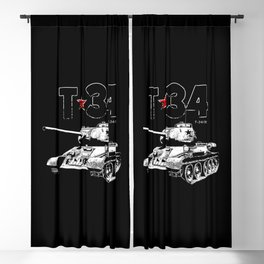 T-34-Tank-Soviet Union-War-WW II Blackout Curtain