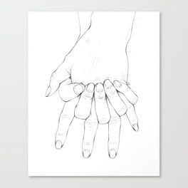 Untitled Hands No.6 Canvas Print
