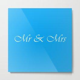 Mr & Mrs Monogram Metal Print