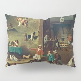 The Kitchen by David Teniers the Younger Pillow Sham