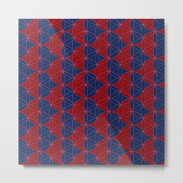Heart Pattern Red Blue Metal Print