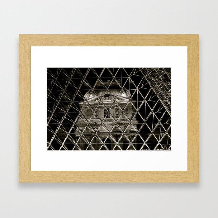 Louvre from inside piramid Framed Art Print