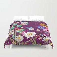 Purple Meadow Duvet Cover