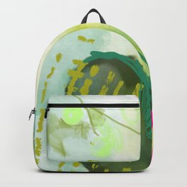Prickly Pear Abstract Painting Backpack