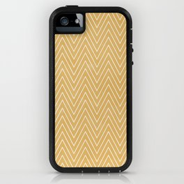 Mustard Chevron iPhone Case