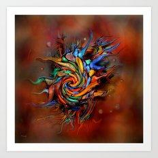 Abstract wash Art Print