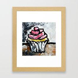 Sweet Treats Still Life: Cupcake Framed Art Print