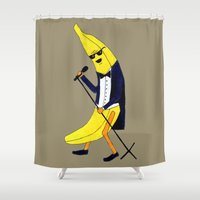 banana Shower Curtains featuring Banana by Anna Shell
