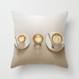 Espresso 5 ways Throw Pillow
