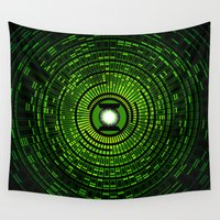 green lantern Wall Tapestries featuring Green Lantern by Electra