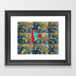 Abstracted Sex. Framed Art Print