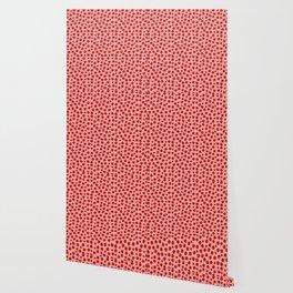 Irregular Small Polka Dots pink and red Wallpaper
