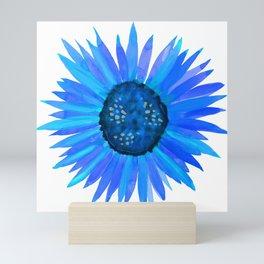 Blue Flower by Linda Sholberg Mini Art Print