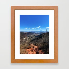 The Air Up There - Glenwood Springs, CO Framed Art Print