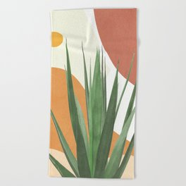 Abstract Agave Plant Beach Towel