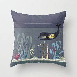 The Fishtank Throw Pillow