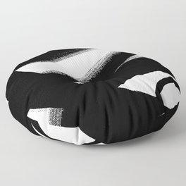 Brush Stroke - Black & White Floor Pillow