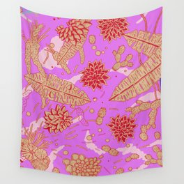 Warm Flower Wall Tapestry