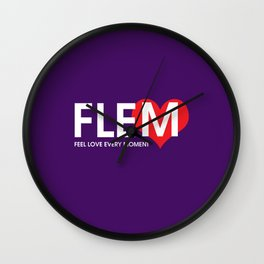 Feel Love Every Moment Wall Clock