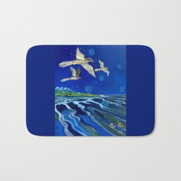 Long-Tailed Cuckoo & The Explorers Bath Mat