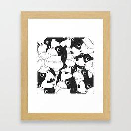 """Japanese chin Mochio """"many many mochio"""" Framed Art Print"""