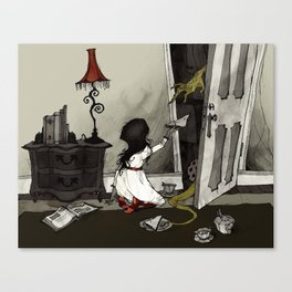 Monster in the Closet Canvas Print