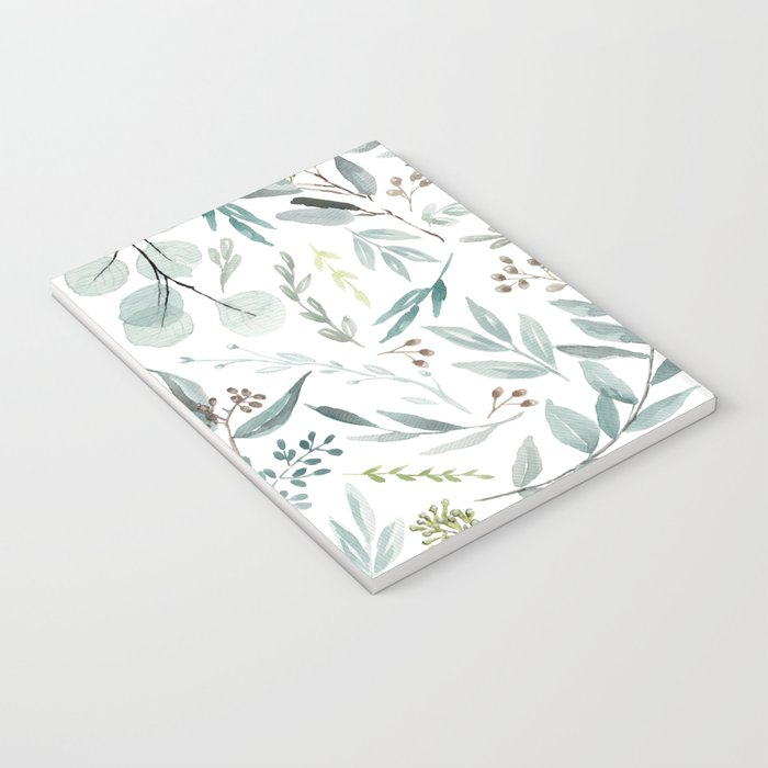 Eucalyptus pattern Notebook