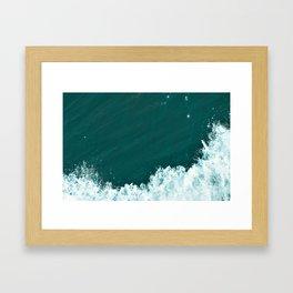Fluffy Seafoam Framed Art Print