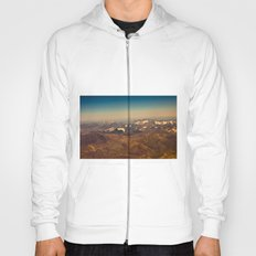 Mountains, snow and sky  from the air Hoody
