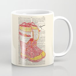 Bunker Boots (Firemen's boots in red and yellow) Coffee Mug