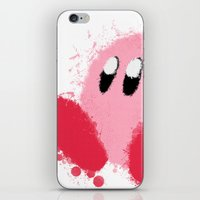 kirby iPhone & iPod Skins featuring Kirby Splatter ~ ☆ by Kiera Marie