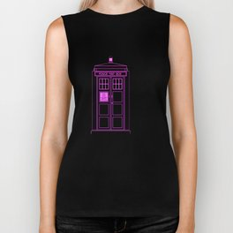 Tardis With The Fifth Doctor Biker Tank