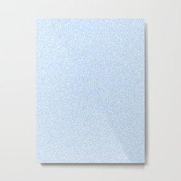 Melange - White and Baby Blue Metal Print