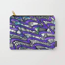 Tangles in the purple waves Carry-All Pouch