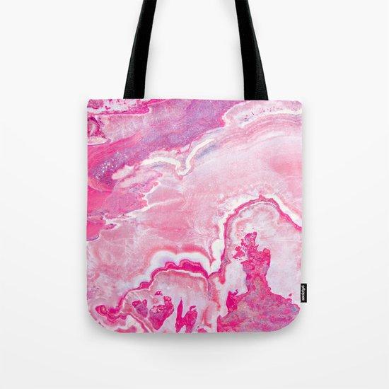 Pink onyx marble Tote Bag
