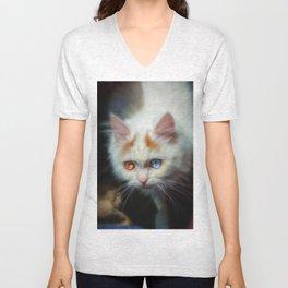 Odd-Eyed Persian Kitten Unisex V-Neck