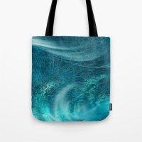 aqua Tote Bags featuring aqua by haroulita