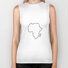 Africa African continent map Biker Tank