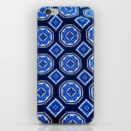 Patterned Up in Blue iPhone Skin